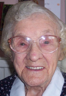 The same Child's great great great Aunt,aged 102 years. She still has good hair !